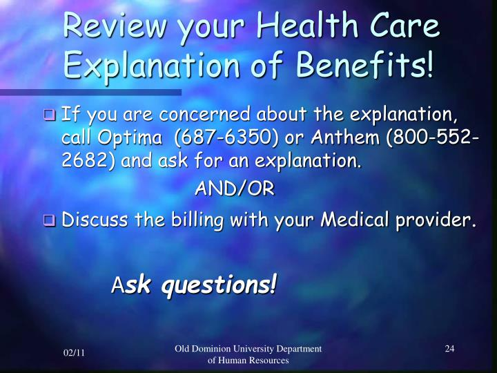 Review your Health Care