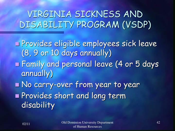 VIRGINIA SICKNESS AND