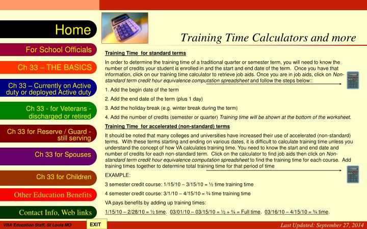 Training Time Calculators and more