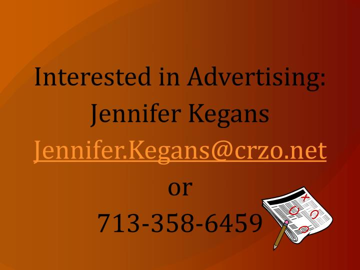 Interested in Advertising: