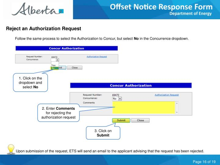 Reject an Authorization Request