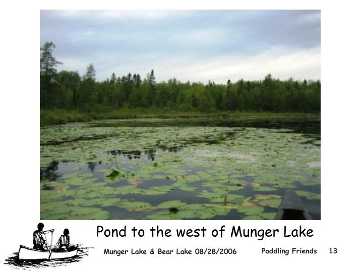 Pond to the west of Munger Lake
