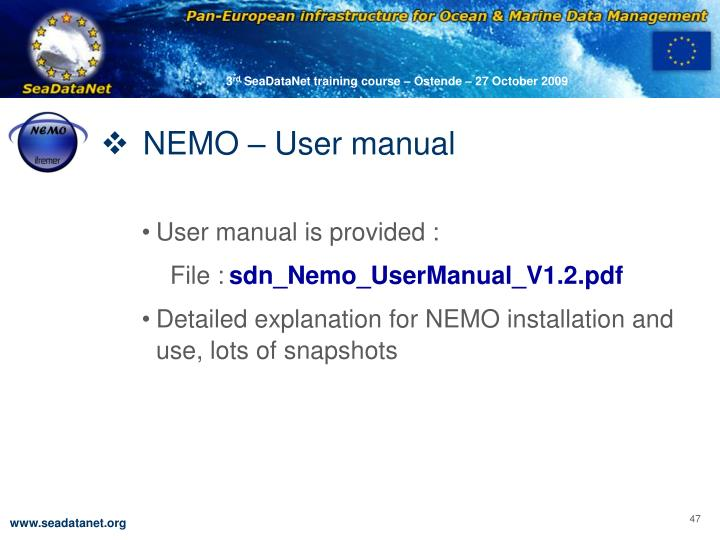 NEMO – User manual