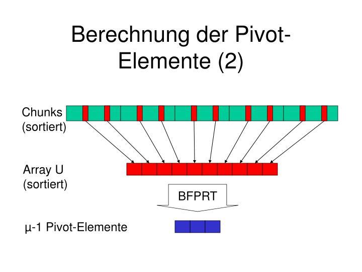 Berechnung der Pivot-Elemente (2)