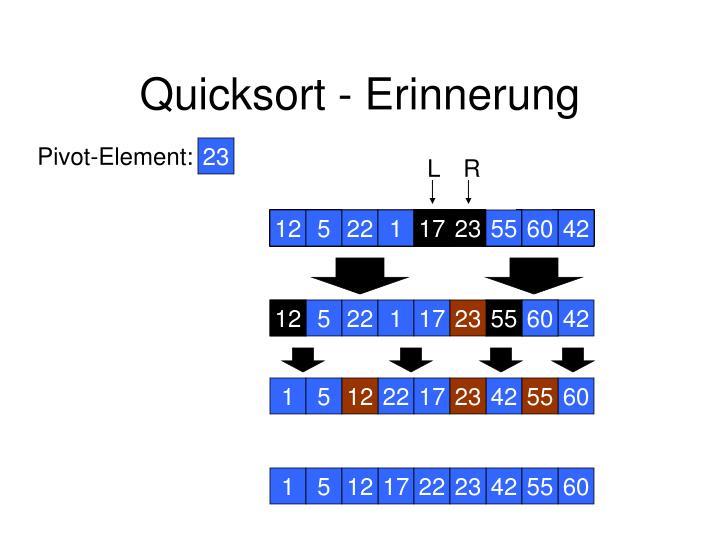 Quicksort erinnerung