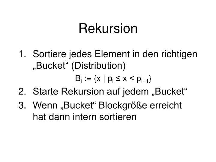 Rekursion