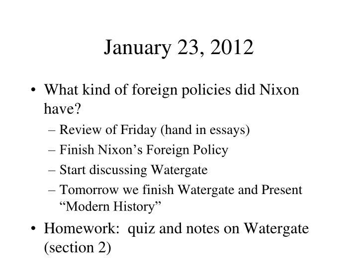 January 23, 2012