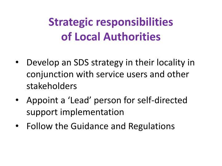 Strategic responsibilities