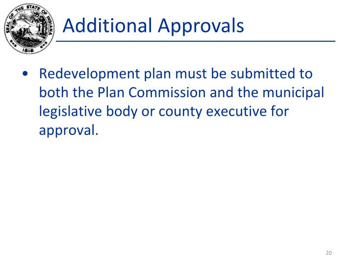 Additional Approvals
