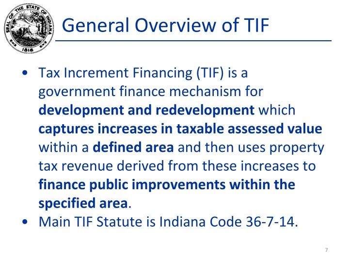 General Overview of TIF