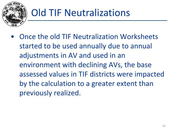 Old TIF Neutralizations