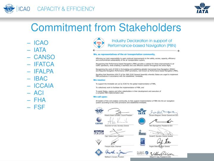 Commitment from Stakeholders