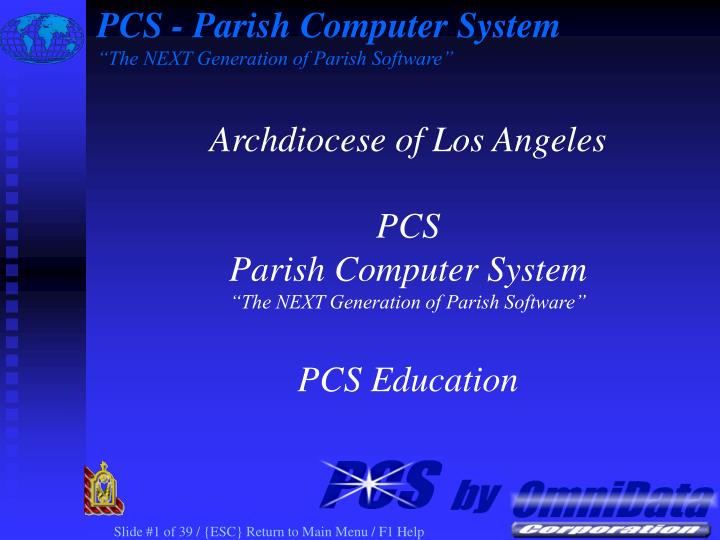 pcs parish computer system the next generation of parish software n.