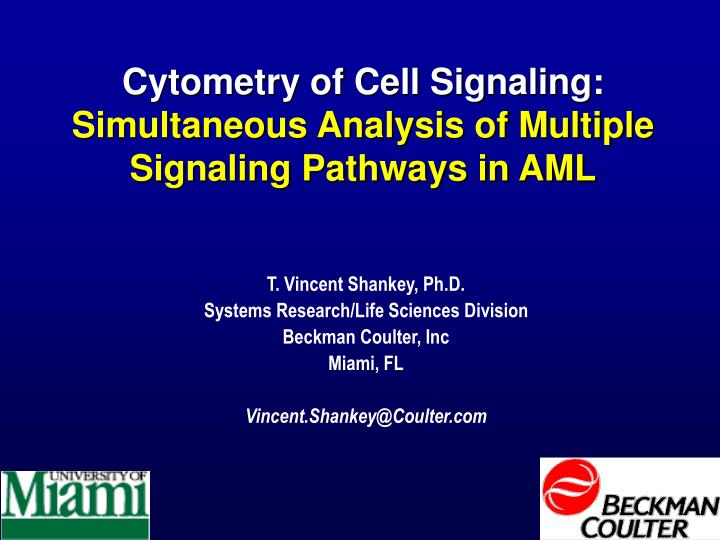 Cytometry of Cell Signaling: