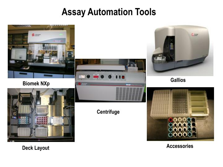 Assay Automation Tools