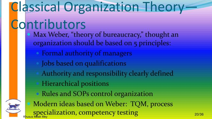 an analysis of max webers classical structural theory Max weber's theory of rationalization is an extensively studied theory within sociology weber's theory uses the model of bureaucracy to symbolize the constant shifting ways of our society rationalization is the process of replacing rationally consistent rules for conventional or rather illogical rules within society.