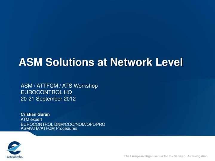 asm solutions at network level n.