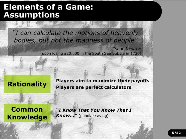 Elements of a Game:
