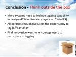 conclusion think outside the box