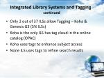 integrated library systems and tagging continued
