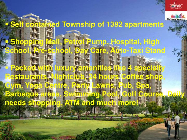 Self contained Township of 1392 apartments