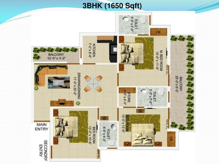 3BHK (1650 Sqft)