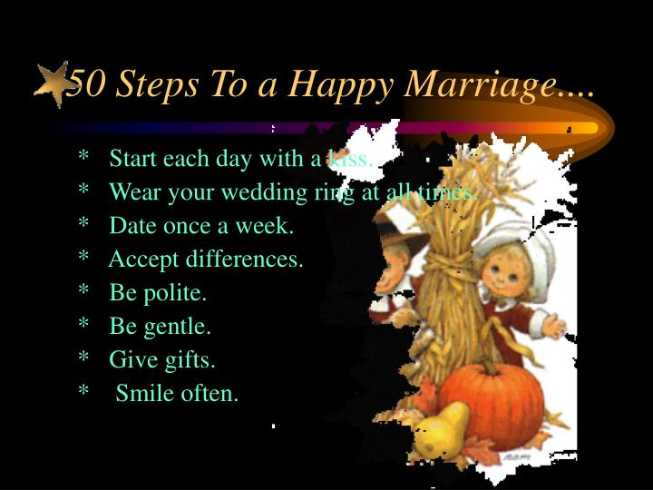 50 steps to a happy marriage