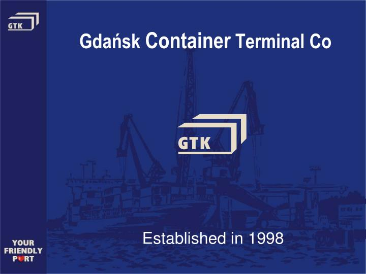 gda sk container terminal co n.