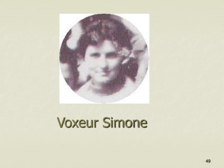 Voxeur Simone