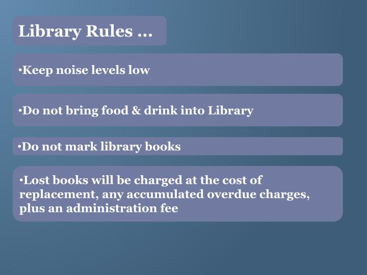 Library Rules ...