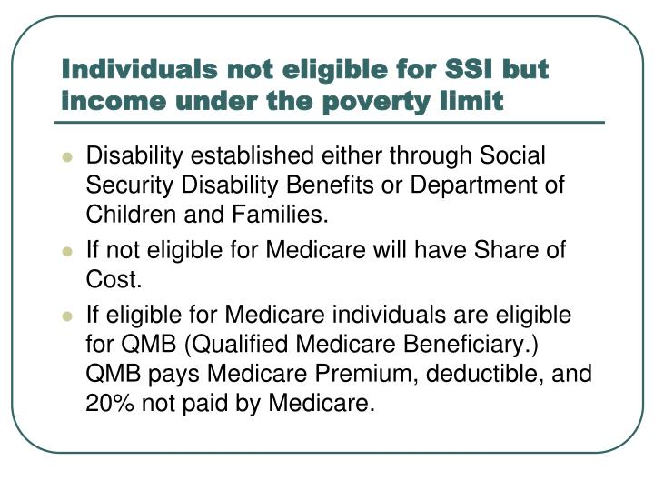 are medicare eligibility limitations reasonable Medicare coverage determination process medicare coverage is limited to items and services that are reasonable and necessary for the diagnosis or treatment of an illness or injury (and within the scope of a medicare benefit category).