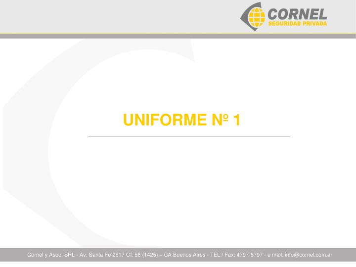 UNIFORME Nº 1