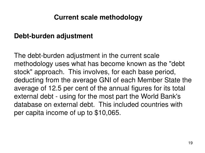 Current scale methodology