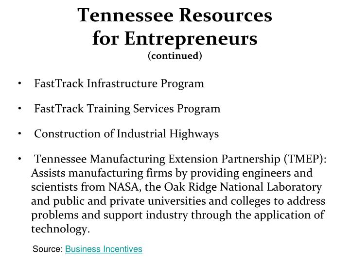 Tennessee Resources