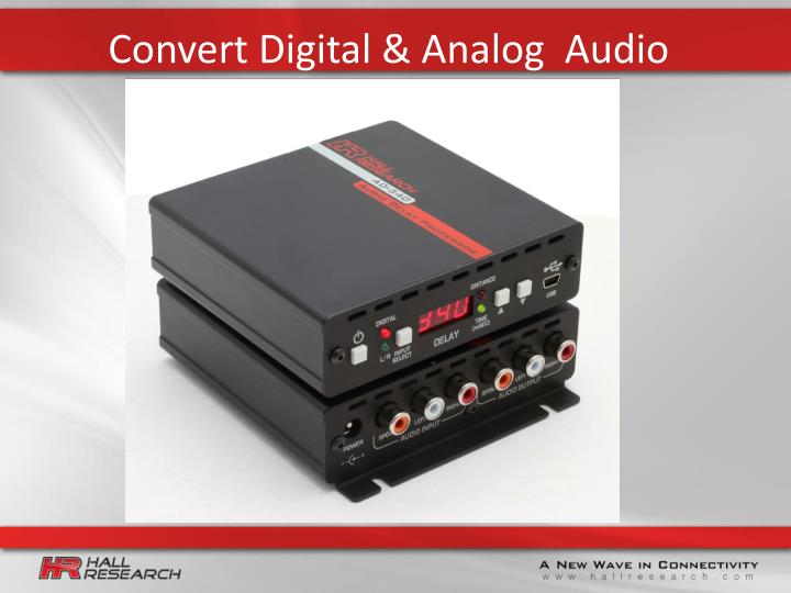 Convert digital analog audio