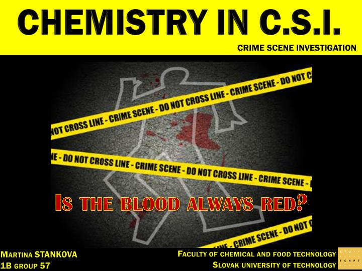 ppt - chemistry in c.s.i. powerpoint presentation - id:4852981, Powerpoint templates