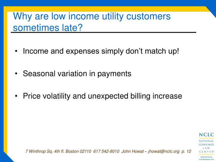 Natural Gas Low Income Program