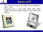 basics of it18