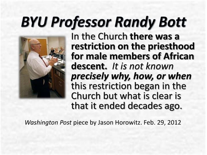 BYU Professor Randy
