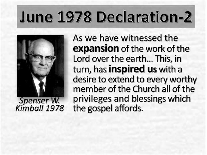June 1978 declaration 2