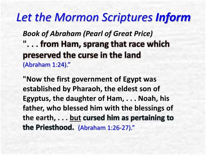 Let the Mormon Scriptures