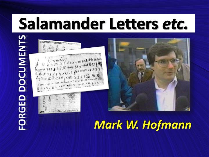 Salamander Letters