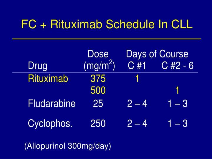 FC + Rituximab Schedule In CLL