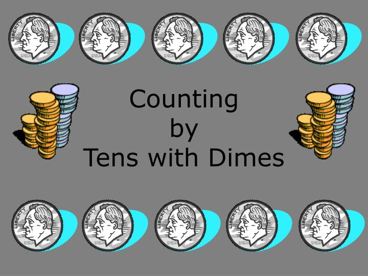 counting by tens with dimes n.