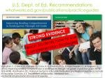u s dept of ed recommendations whatworks ed gov publications practiceguides