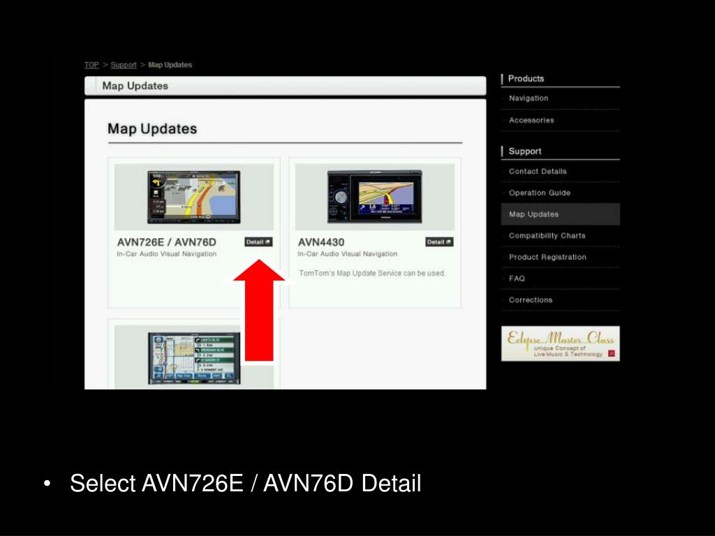 PPT - Updating the Maps Step 2 Eclipse AVN726E / AVN76D PowerPoint