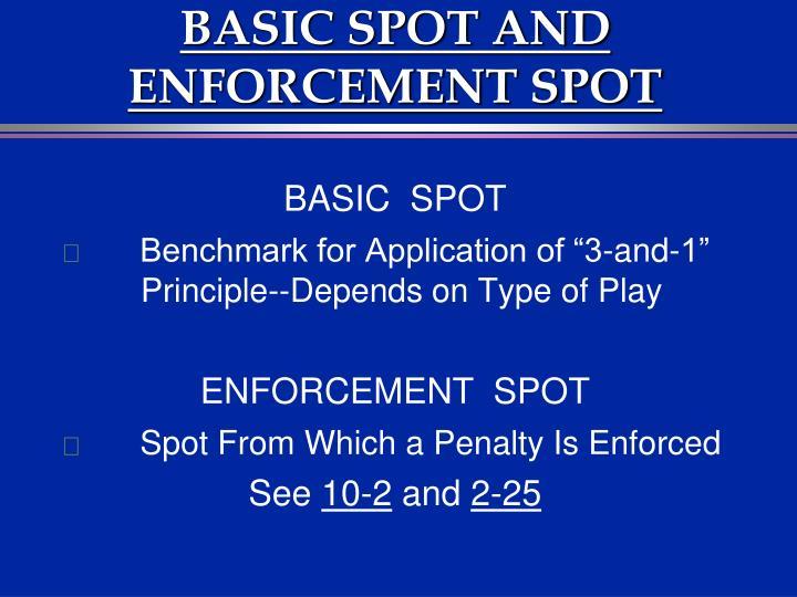 BASIC SPOT AND ENFORCEMENT SPOT