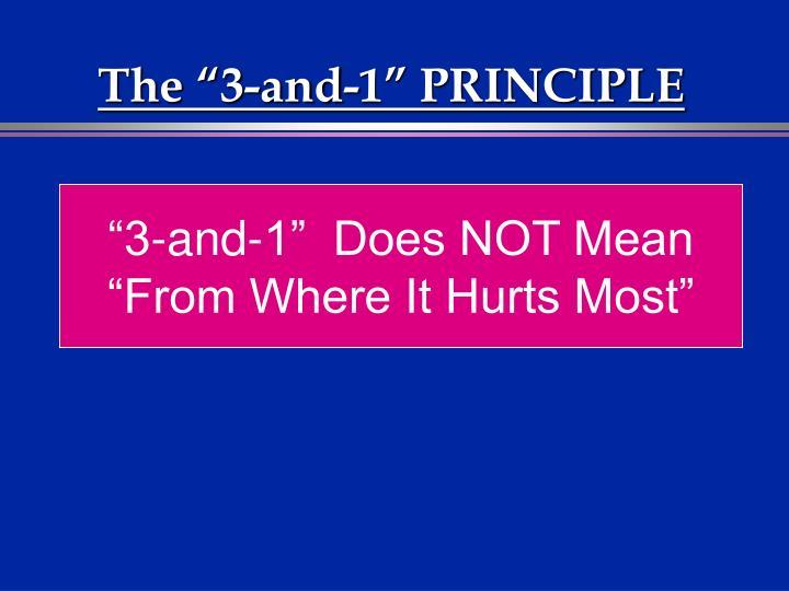 "The ""3-and-1"" PRINCIPLE"