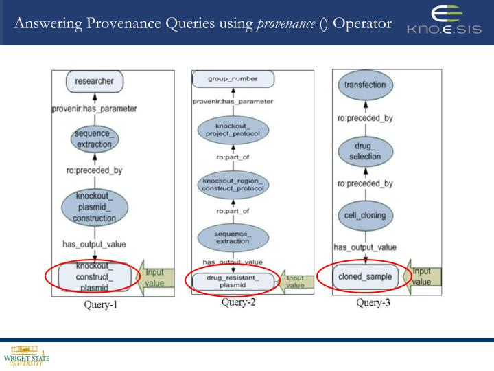 Answering Provenance Queries using