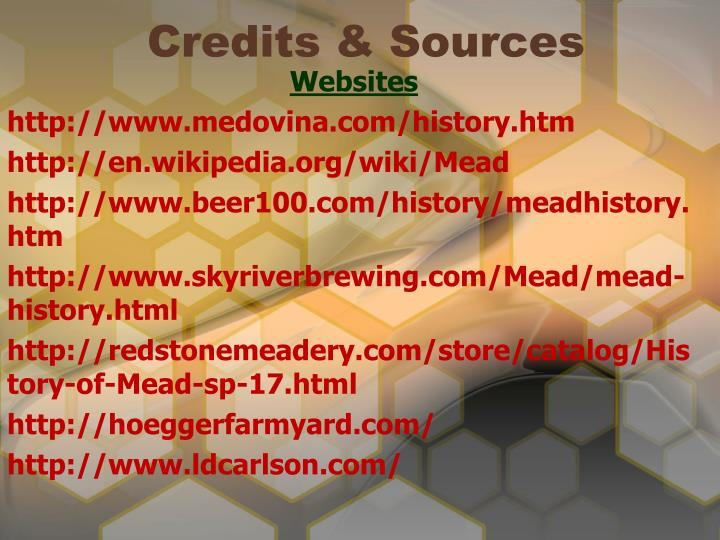 Credits & Sources